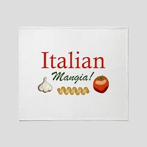 ITALIAN MANGIA Throw Blanket