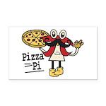 Pizza Pi Rectangle Car Magnet