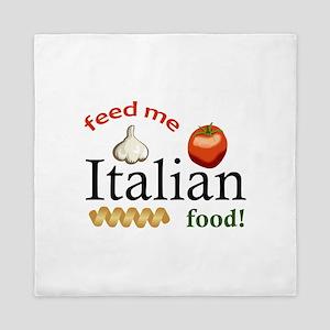 FEED ME ITALIAN Queen Duvet