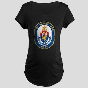 USS Bunker Hill CG-52 Maternity T-Shirt