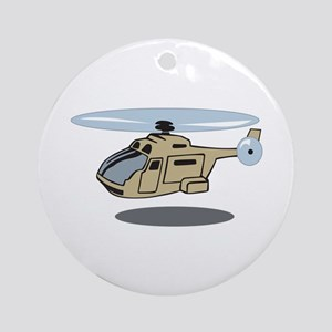 MILITARY HELICOPTER Ornament (Round)
