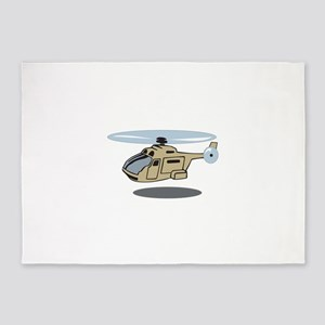 MILITARY HELICOPTER 5'x7'Area Rug