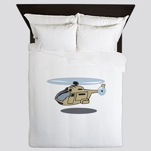 MILITARY HELICOPTER Queen Duvet