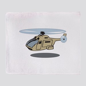 MILITARY HELICOPTER Throw Blanket