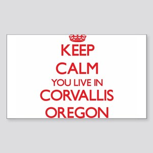 Keep calm you live in Corvallis Oregon Sticker