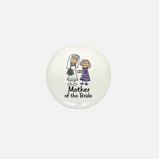 Cartoon Bride's Mother Mini Button