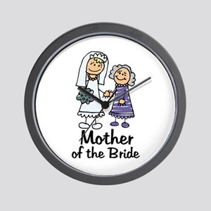 Cartoon Bride's Mother Wall Clock