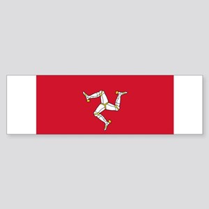 Flag of Mann Sticker (Bumper)