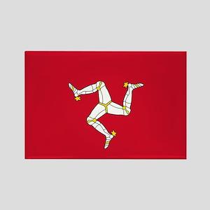 Flag of Mann Rectangle Magnet