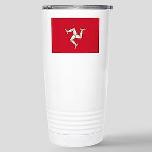 Flag of Mann Stainless Steel Travel Mug