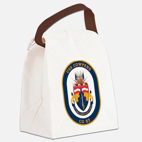 USS Cowpens CG-63 Canvas Lunch Bag