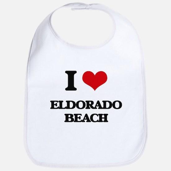 I Love Eldorado Beach Bib