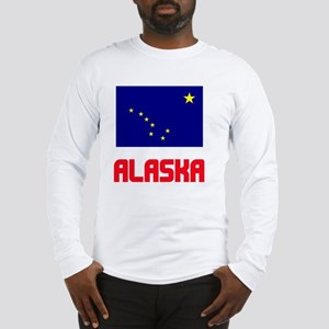 Alaska Flag Design Long Sleeve T-Shirt