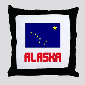 Alaska Flag Design Throw Pillow