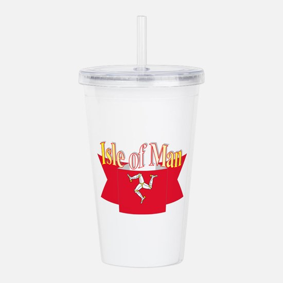 Isle of man ribbon Acrylic Double-wall Tumbler