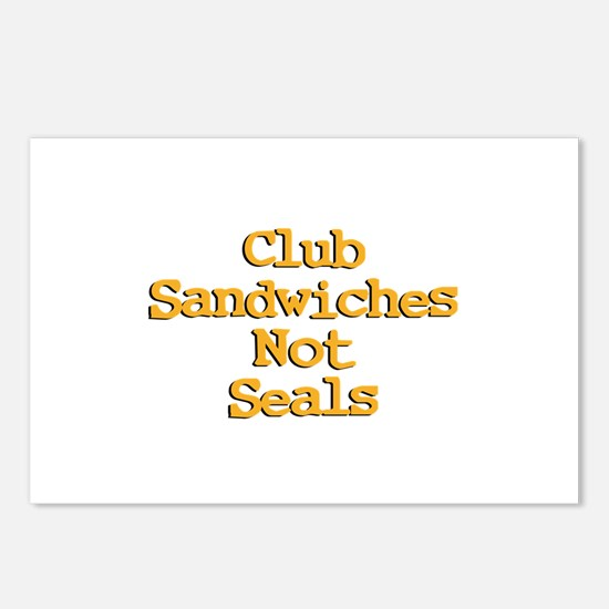 Club Sandwiches Not Seals! Postcards (Package of 8