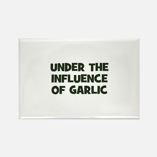 under the influence of garlic Rectangle Magnet (10