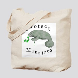 Protect Manatees Tote Bag