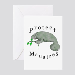Protect Manatees Greeting Cards (Pk of 10)