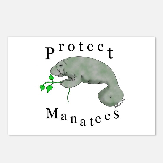 Protect Manatees Postcards (Package of 8)