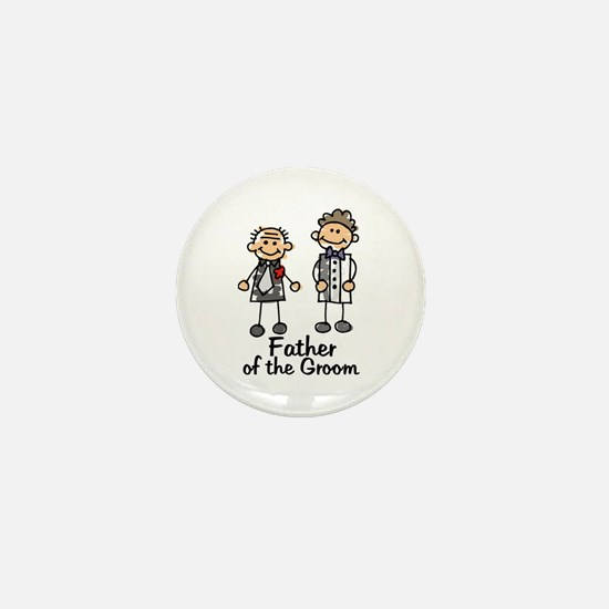 Cartoon Groom's Father Mini Button