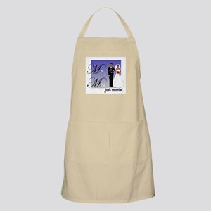 Mr. & Mrs. in Blue BBQ Apron