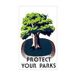 PROTECT YOUR PARK vinyl sticker