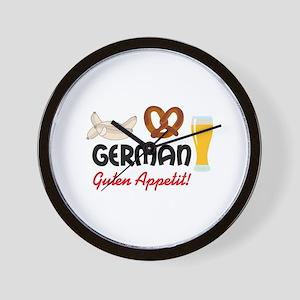 GERMAN GUTEN APPETIT Wall Clock