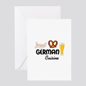 GERMAN CUISINE Greeting Cards
