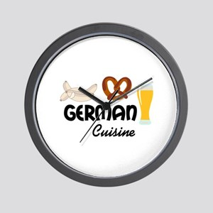 GERMAN CUISINE Wall Clock