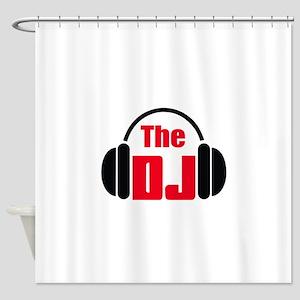 THE DISC JOCKEY Shower Curtain