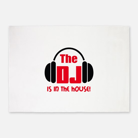 DJ IS IN THE HOUSE 5'x7'Area Rug
