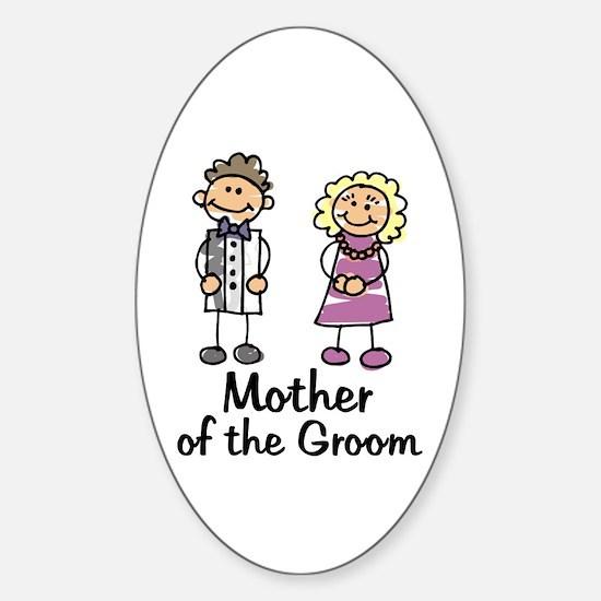 Cartoon Groom's Mother Oval Decal