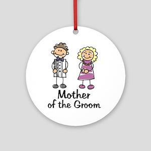 Cartoon Groom's Mother Ornament (Round)