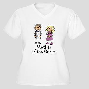Cartoon Groom's Mother Women's Plus Size V-Neck T-