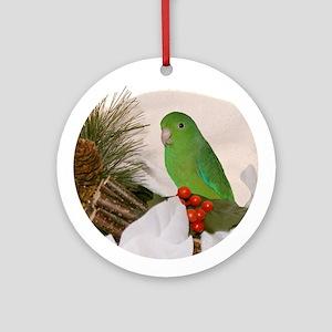 Male Green Rump Deliciosus Parrotlet Ornament
