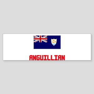 Anguillian Flag Design Bumper Sticker