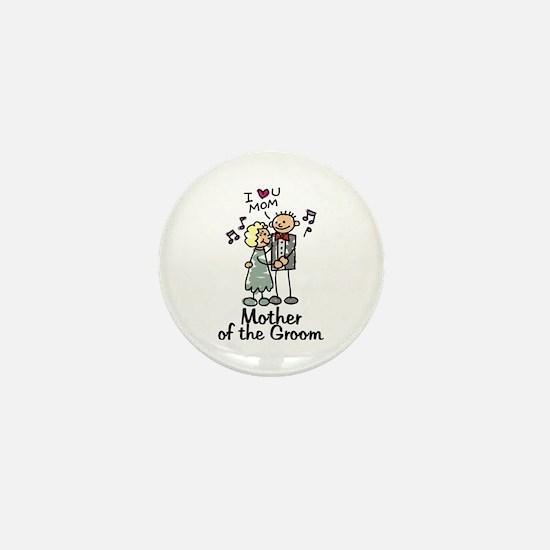 Cartoon Groom's Mother Mini Button