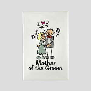 Cartoon Groom's Mother Rectangle Magnet