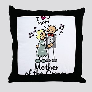 Cartoon Groom's Mother Throw Pillow
