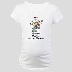 Cartoon Groom's Mother Maternity T-Shirt