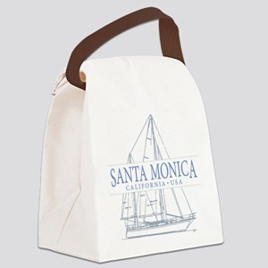 Santa Monica CA - Canvas Lunch Bag