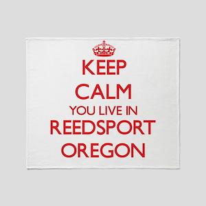 Keep calm you live in Reedsport Oreg Throw Blanket