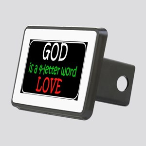 God is a 4 letter word Hitch Cover