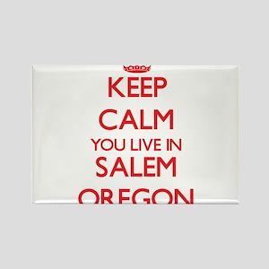 Keep calm you live in Salem Oregon Magnets