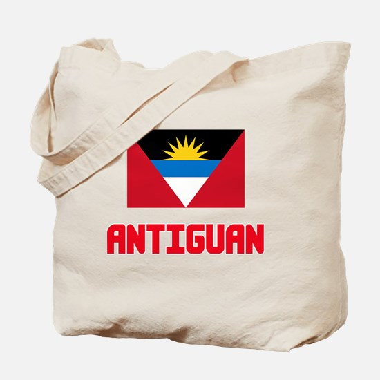 Antiguan Flag Design Tote Bag