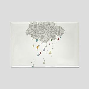Rain Cloud Illustration Magnets