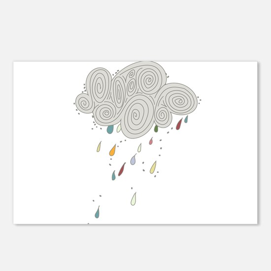 Rain Cloud Illustration Postcards (Package of 8)