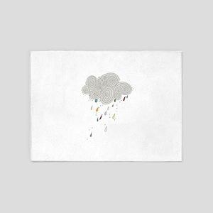 Rain Cloud Illustration 5'x7'Area Rug