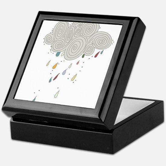 Rain Cloud Illustration Keepsake Box